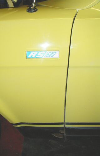 Escort Perana with RS1600 badge